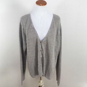 Eileen Fisher Knit Long Sleeve Linen Cardigan